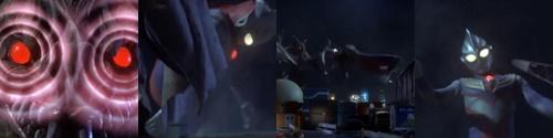 ウルトラマンティガが怪獣に噛みつかれる!ヒーローやられ