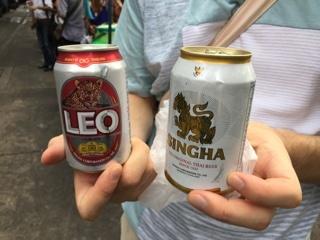 バンコク乾杯ビール(LEO・SINGHA)