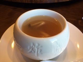 金華ハムと干し貝柱のスープ