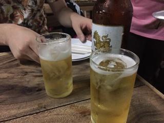 シンハービール大瓶