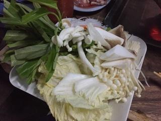 しゃぶしゃぶの野菜