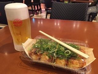 ねぎ蛸8個入り+オリオンビール