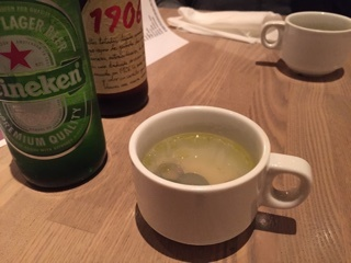 付け出し(?)のしじみのスープ