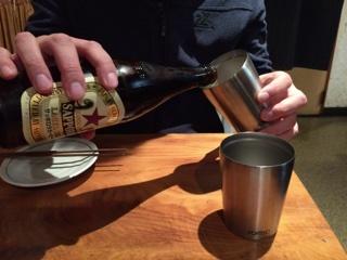 瓶ビール(サッポロラガー赤星 中瓶)