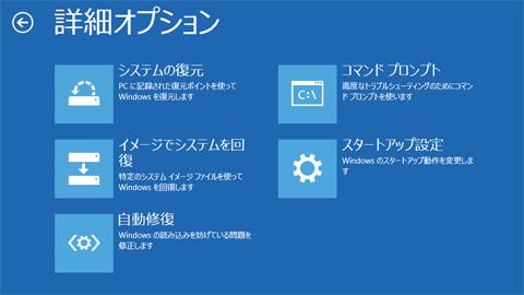 WindowsリカバリCD画面