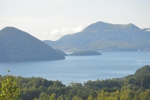 展望台(朝の洞爺湖)