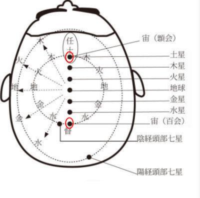 頭部の七星配置