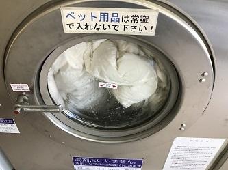 羽毛布団の洗濯2