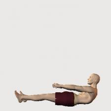 仰臥 体幹屈曲 膝伸ばし 手前