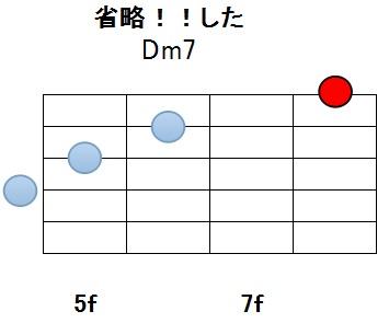 Dm7省略11w_メロディ