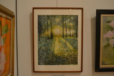森の夕焼け 10号