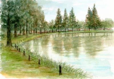 水上公園スケッチ