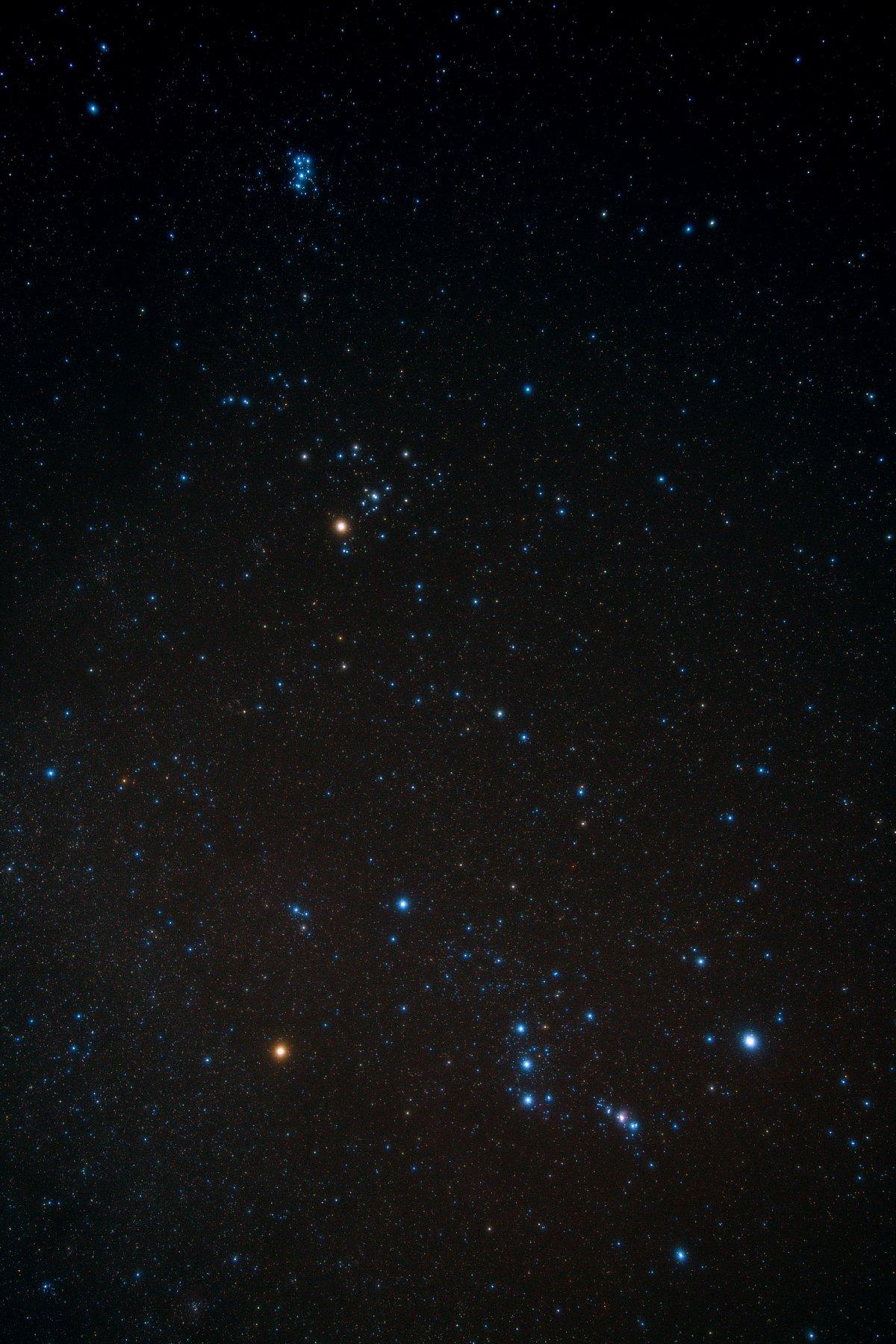 【星野】オリオン~ヒアデス星団~プレアデス星団(M45)
