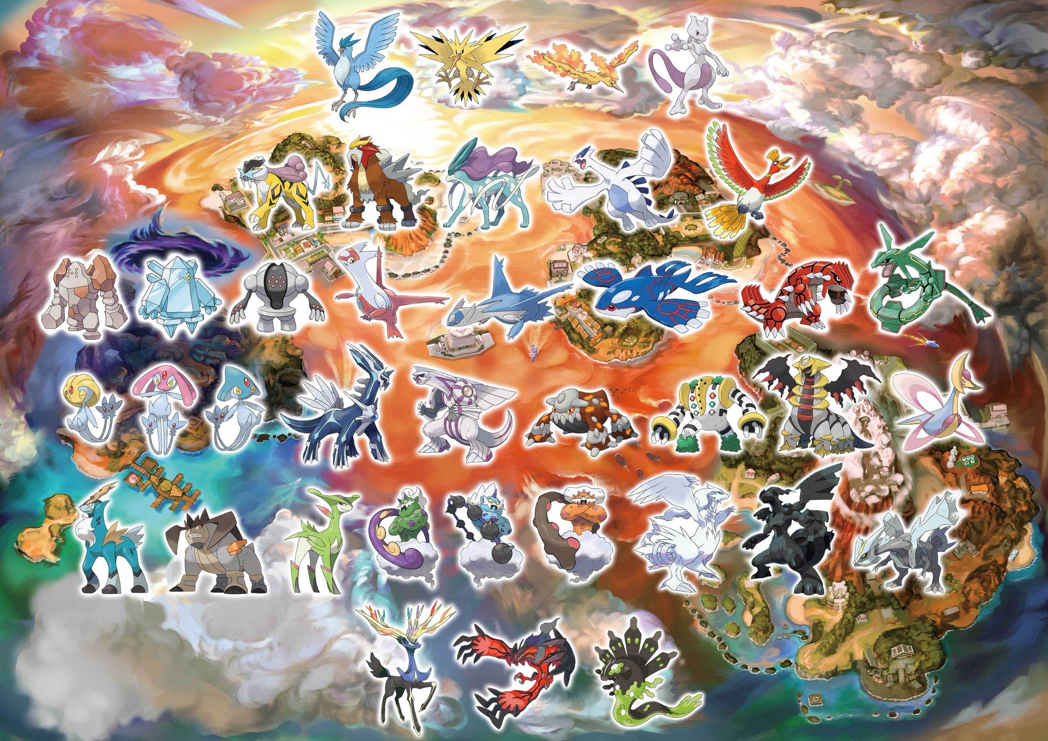 ポケモンusum】過去作の伝説ポケモン全種類登場が公式発表。legacy