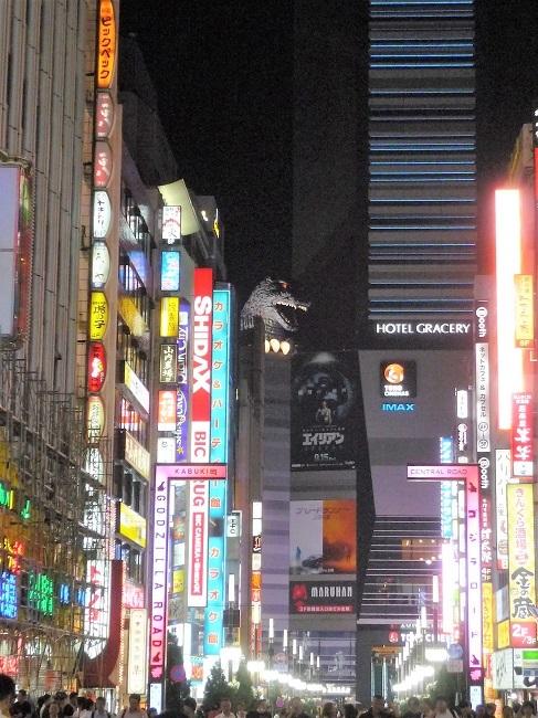 歌舞伎町ーゴジラ