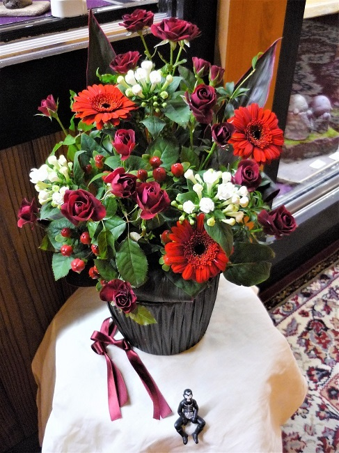 二人展、花を頂きました。