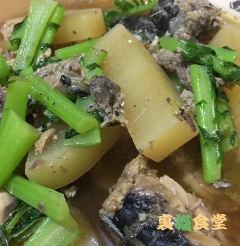 12月25日鯖缶と大根の煮物