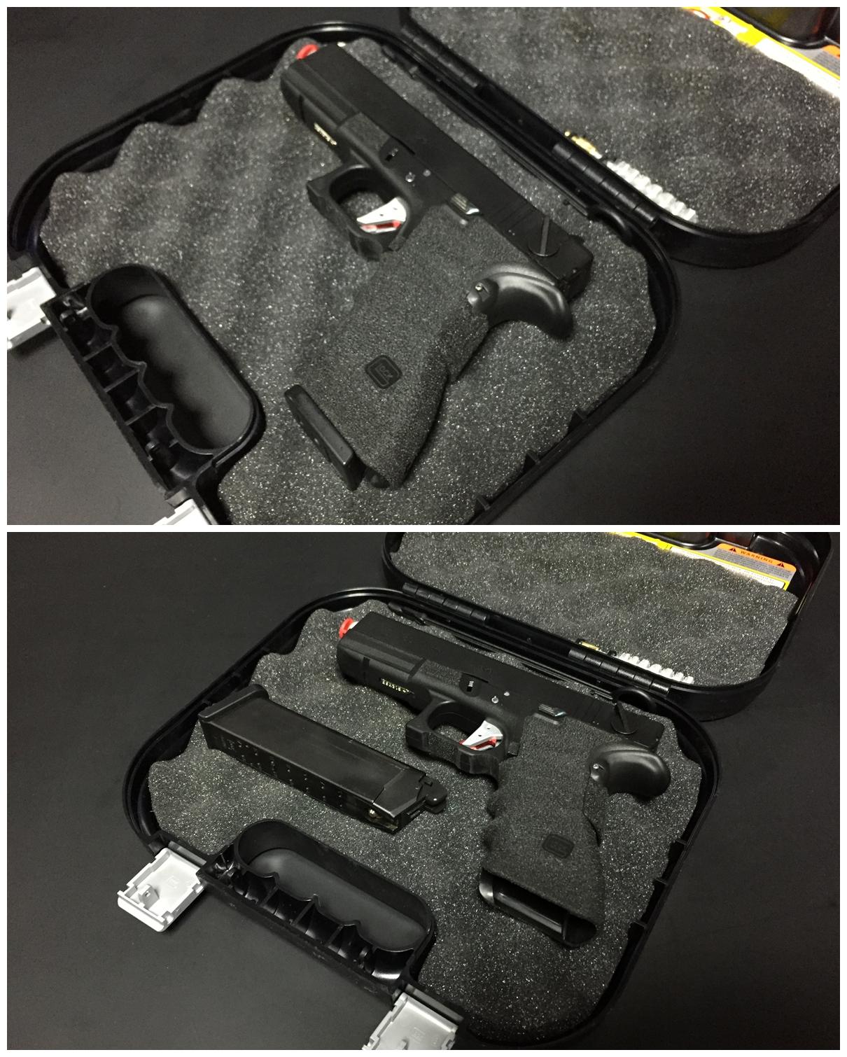 10 グロック社 純正 実銃用 ハードガン ケース.JPG