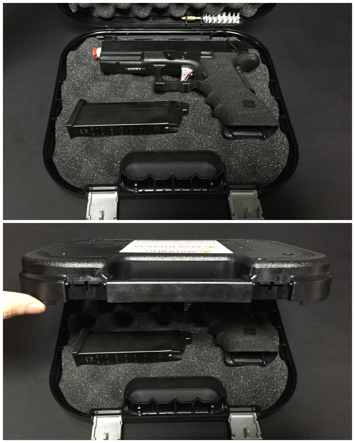 11 グロック社 純正 実銃用 ハードガン ケース.JPG