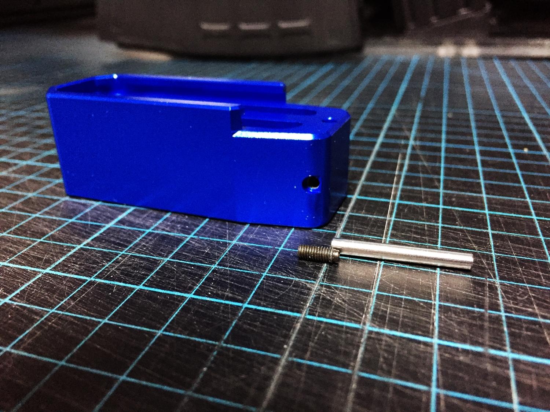 2 簡単 アルマイト 除去 ポリッシュ 鏡面 加工 UAC P-MAG アルミニウム マガジン ベース パッド