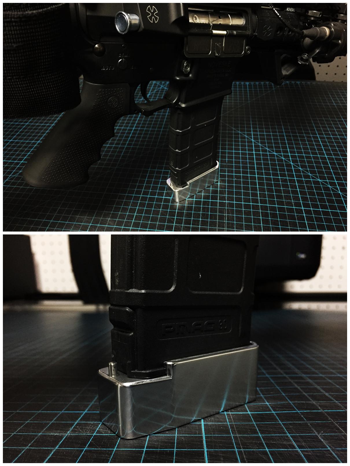 11 簡単 アルマイト 除去 ポリッシュ 鏡面 加工 UAC P-MAG アルミニウム マガジン ベース パッド