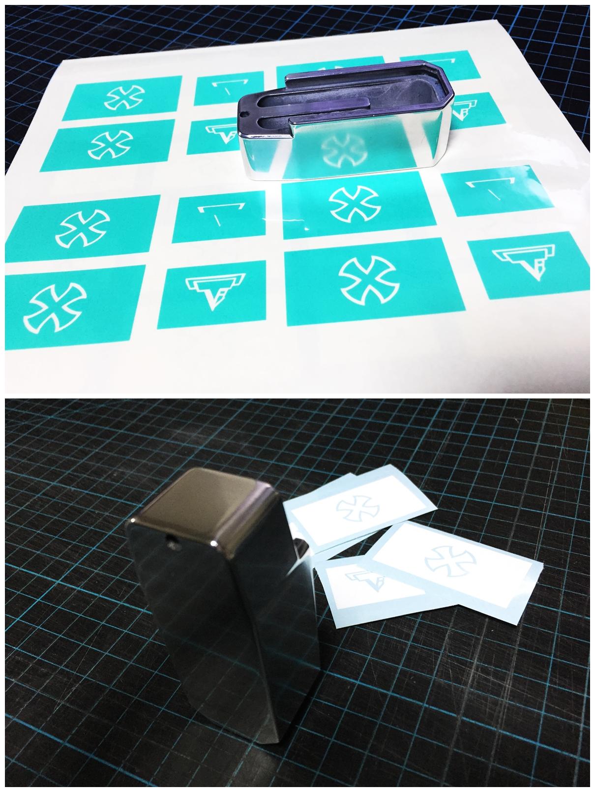 3 ブルーイング 刻印 TTI タイプ レプリカ NOVESKE 自作DIY 加工 UAC P-MAG アルミニウム マガジン ベース パッド