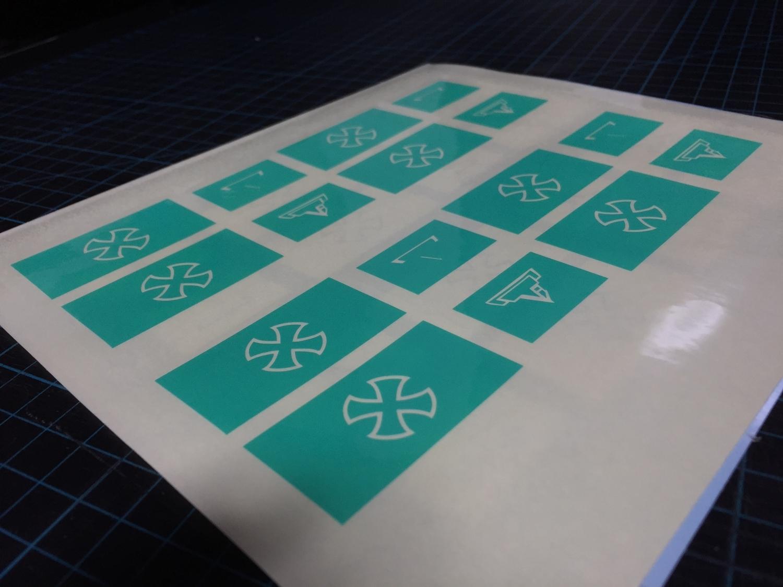 2 ブルーイング 刻印 TTI タイプ レプリカ NOVESKE 自作DIY 加工 UAC P-MAG アルミニウム マガジン ベース パッド