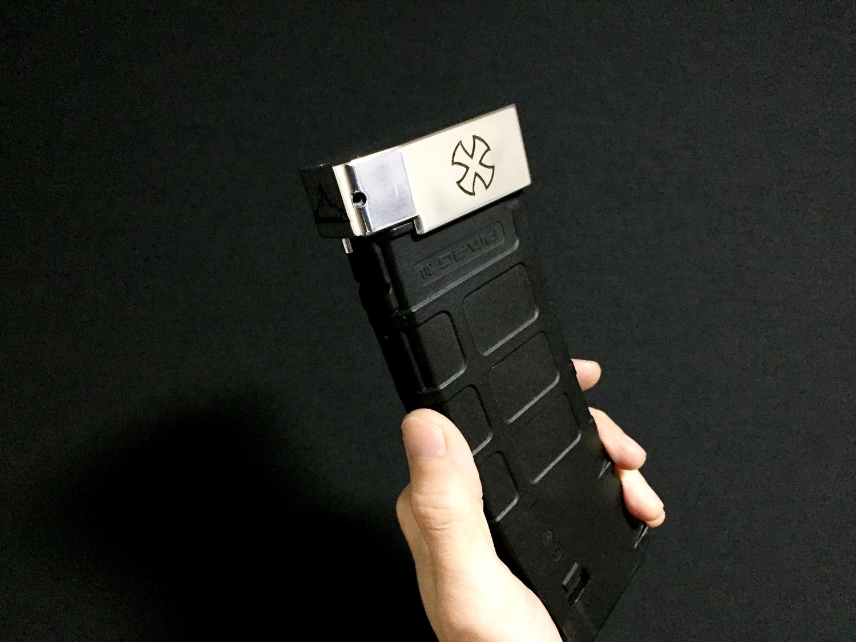 9 ブルーイング 刻印 TTI タイプ レプリカ NOVESKE 自作DIY 加工 UAC P-MAG アルミニウム マガジン ベース パッド