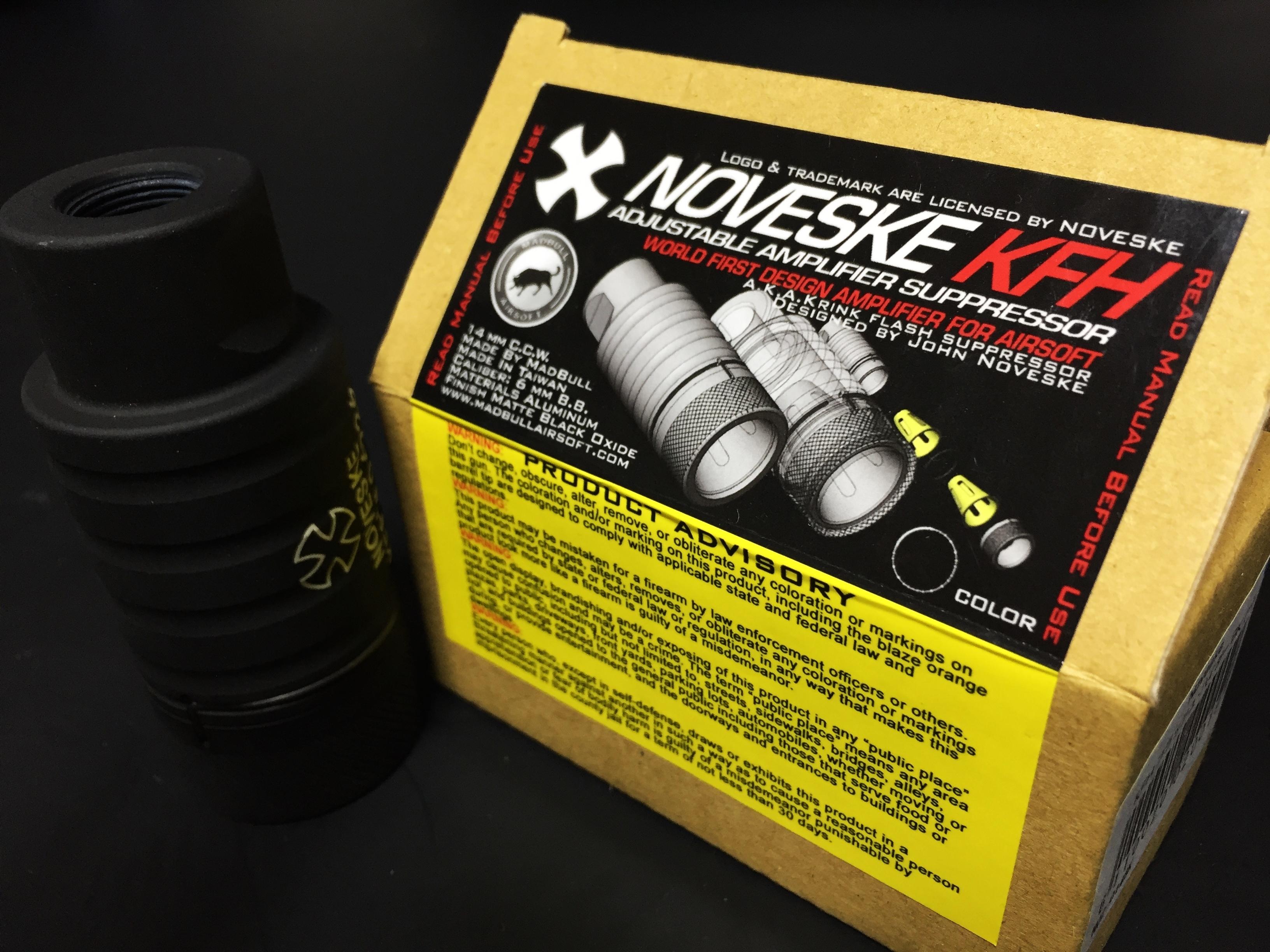 9 NOVESKE KFH MADBULL 社製 Noveske公認 マットブル フラッシュハイダー 14mm 逆ネジ 高品質 レプリカ