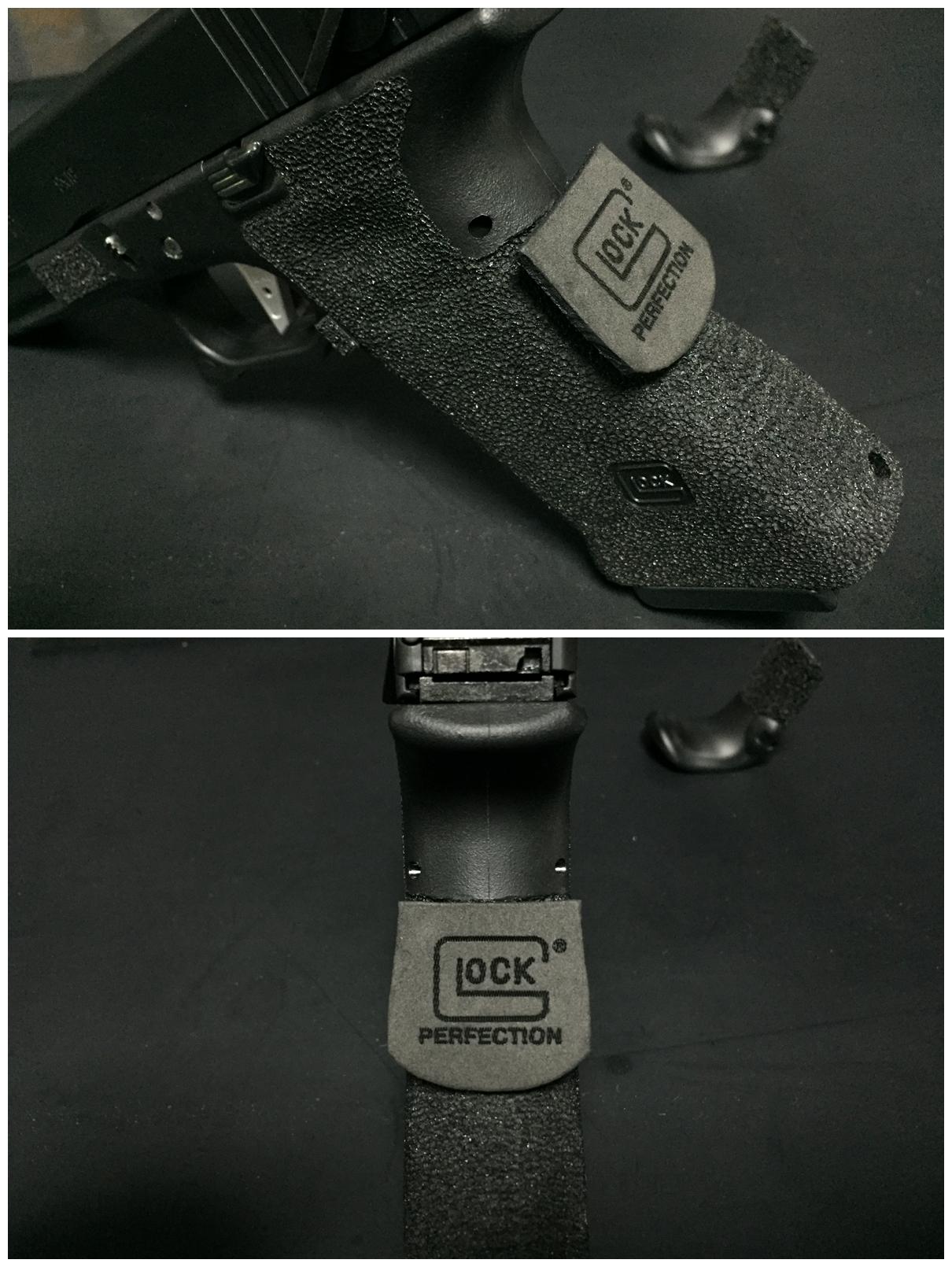 4 GLOCK グロックG UARDER 実銃素材 ビーバーテール 専用 DIY 自作 刻印入り クッション パット 作製 取付 加工 カスタム