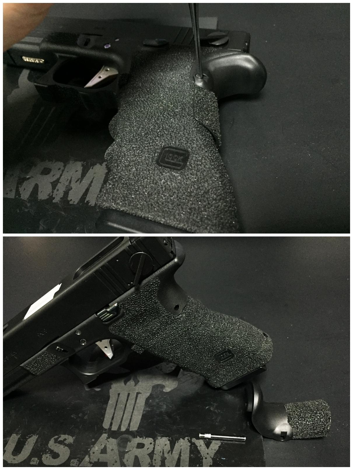 3 GLOCK グロックG UARDER 実銃素材 ビーバーテール 専用 DIY 自作 刻印入り クッション パット 作製 取付 加工 カスタム