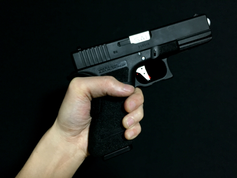 7 GLOCK グロックG UARDER 実銃素材 ビーバーテール 専用 DIY 自作 刻印入り クッション パット 作製 取付 加工 カスタム