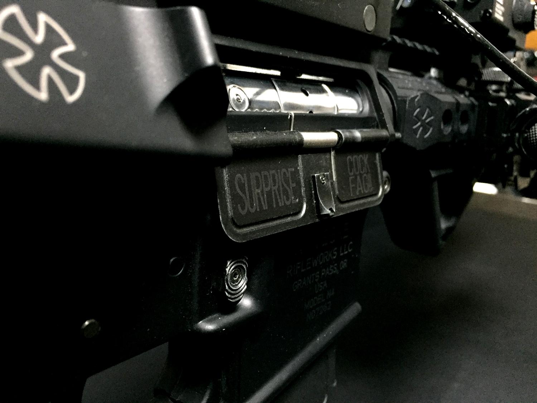 4次世代 M4 PORT COVER SURPRISE COCK FAG!ポートカバー 刻印