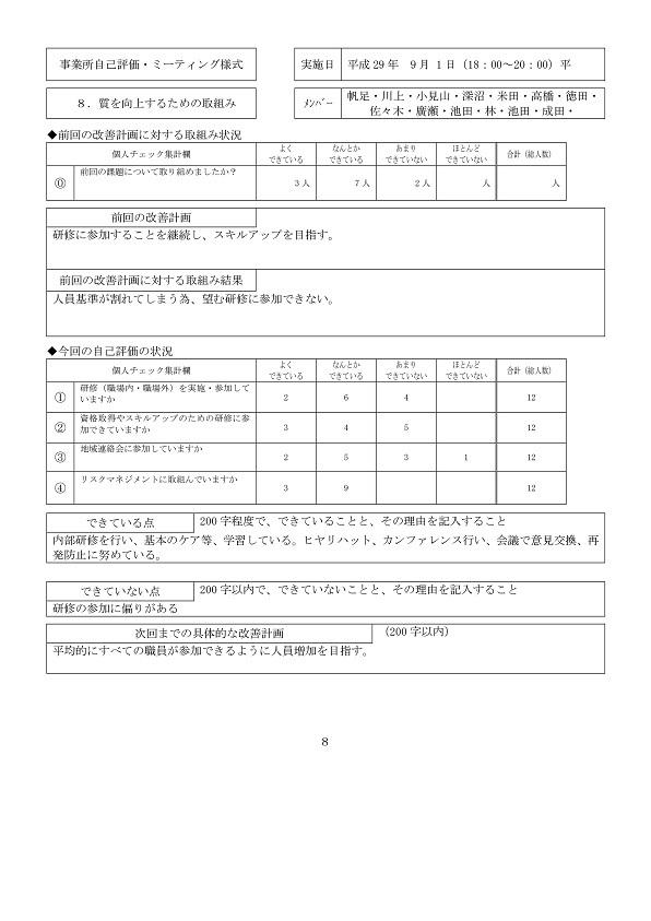2-2)H29事業所自己評価(別紙-008