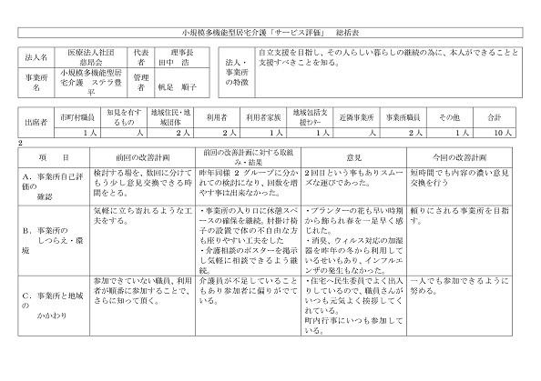 サービス評価総括表(2-4)-001
