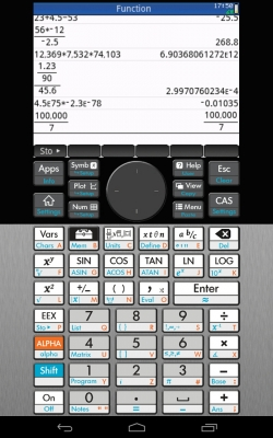 HP Prime Graphing Calculator (縦表示) タイトル表示無し