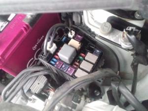 タント L375S バッテリー交換 取外し後