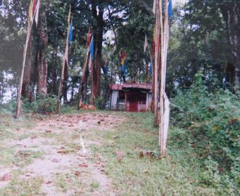 ミャンマー山中の神社