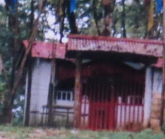 ミャンマー山中神社の入り口(鳥居)