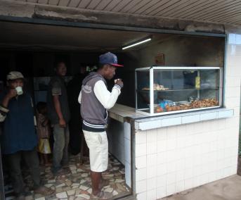 マダガスカル棚田近くの茶店