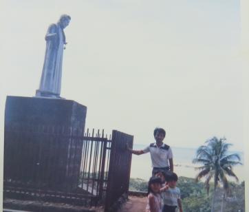 マレーシアのマラッカのザビエル像