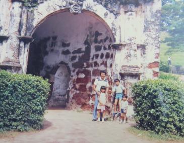 マレーシアのマラッカのサンチャゴ砦