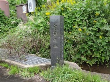 現在の金浦用水と碑