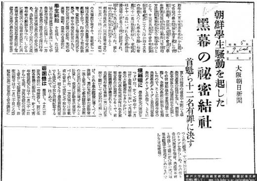 新聞記事光州学生騒擾事件1