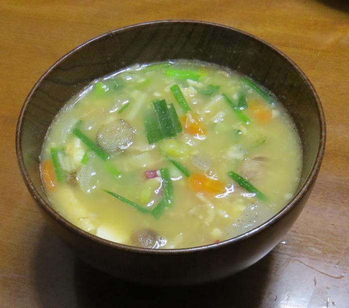 ワケギの味噌汁10月