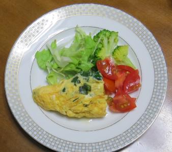 ニラ入り卵焼き
