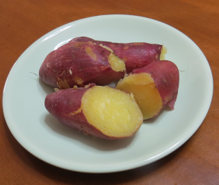 サツマイモの蒸かしイモ(ベニハルカ)