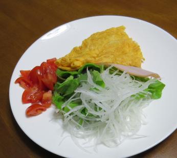 ミニトマト入り生野菜サラダ1