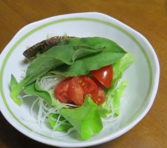 ミニトマト入り生野菜サラダ2