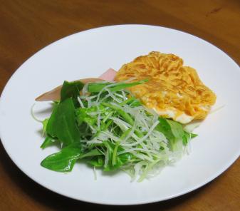 サラダ用ホウレンソウを使った生野菜サラダ